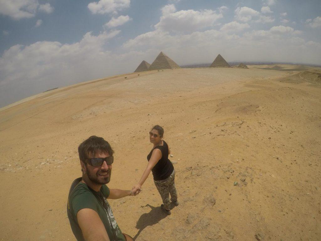 Sergio y Cris en Egipto