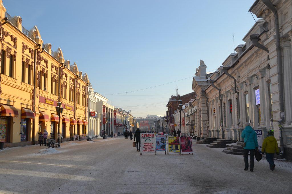 Calle de Irkutsk sin aglomeraciones