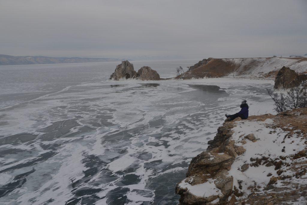Lago Baikal desde isla de Oljón