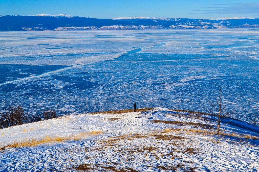 Vistas lago Baikal desde cabo Khoby