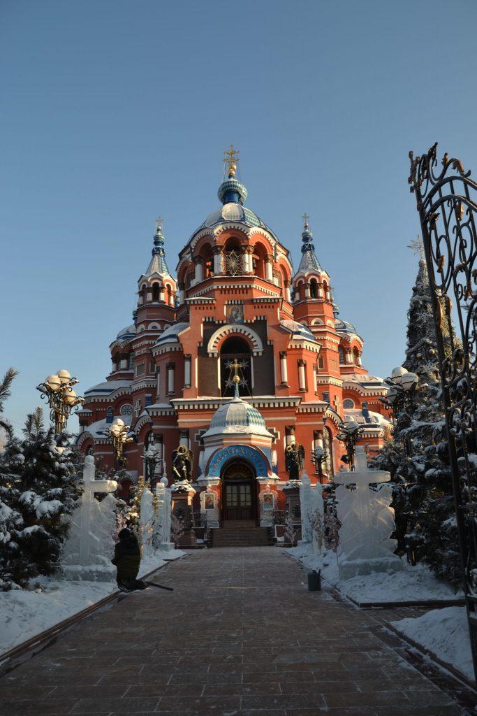 Catedral nuestra señora de Kazan en Irkutsk