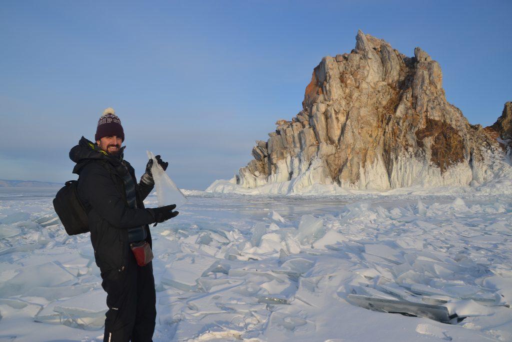 Hielo del lago Baikal