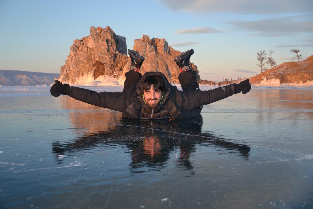 Lago Baikal en enero