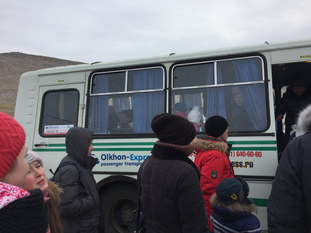 Autobús que va hasta khuzhir