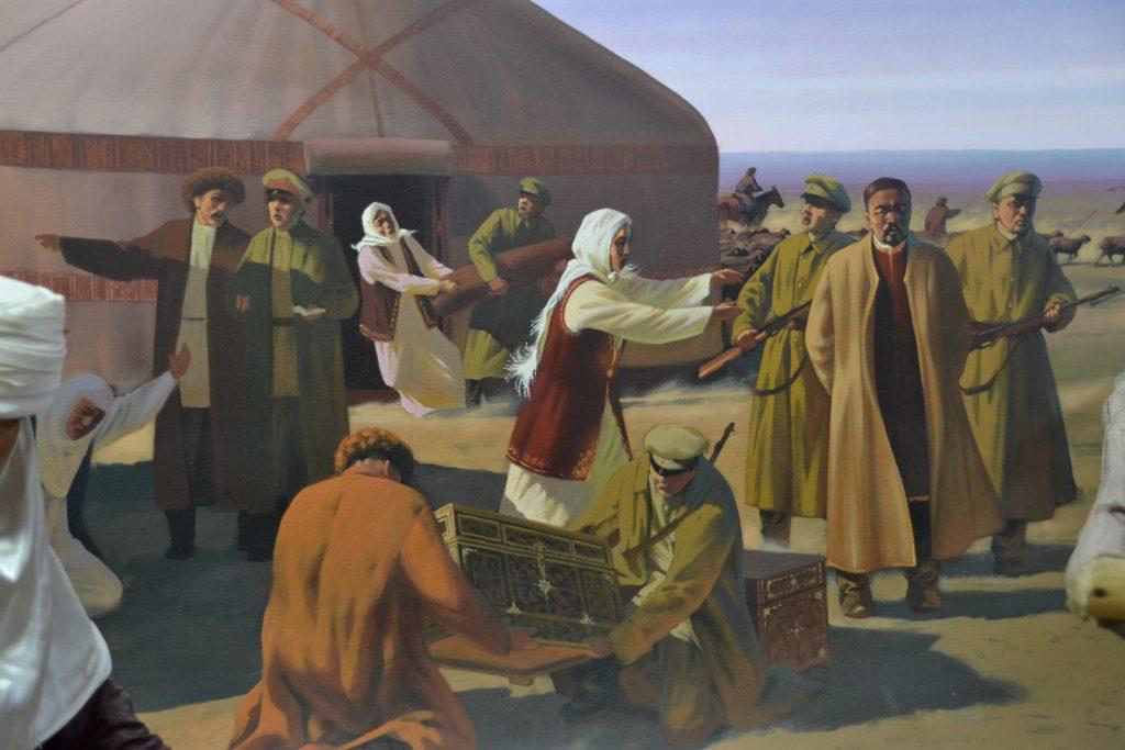 Atacando a los nómadas kazajos