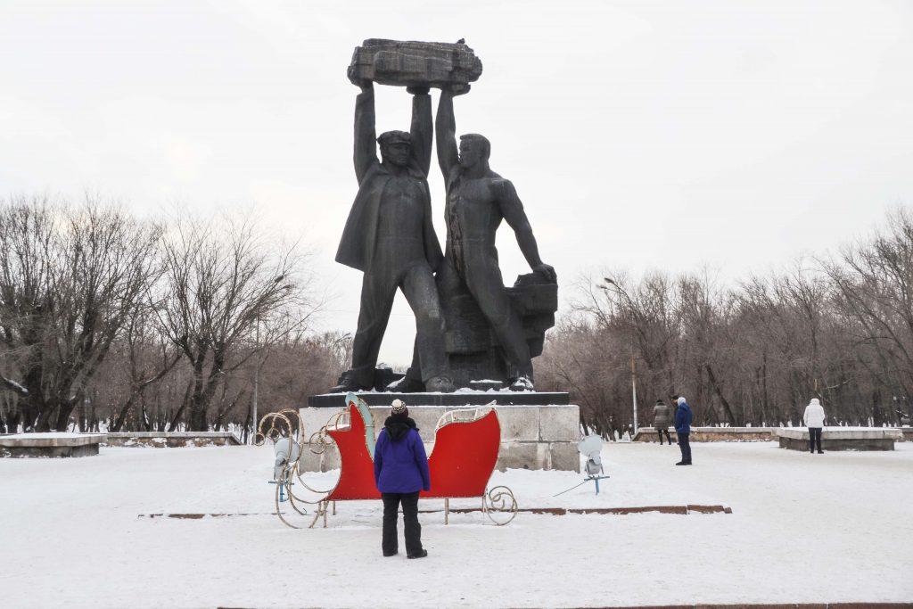 Estatua de mineros Minig Glory