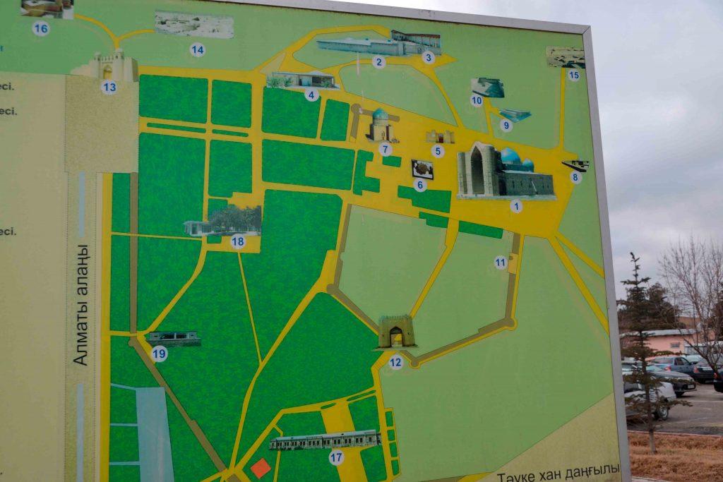 mapa con los principales atractivos de la ciudad