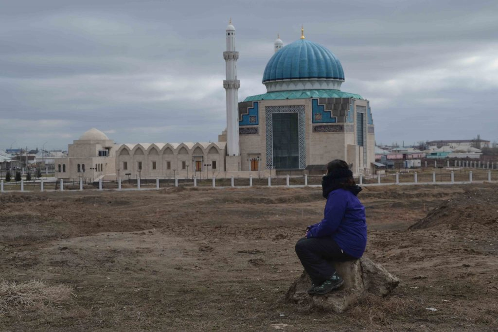 Vista lateral de la mezquita azul