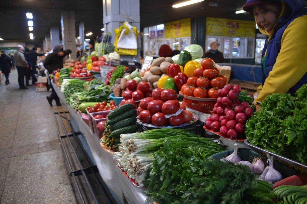 Frutas y verduras en Green Bazar
