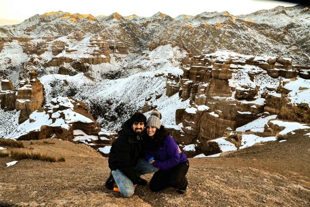 Cañón Charyn nevado