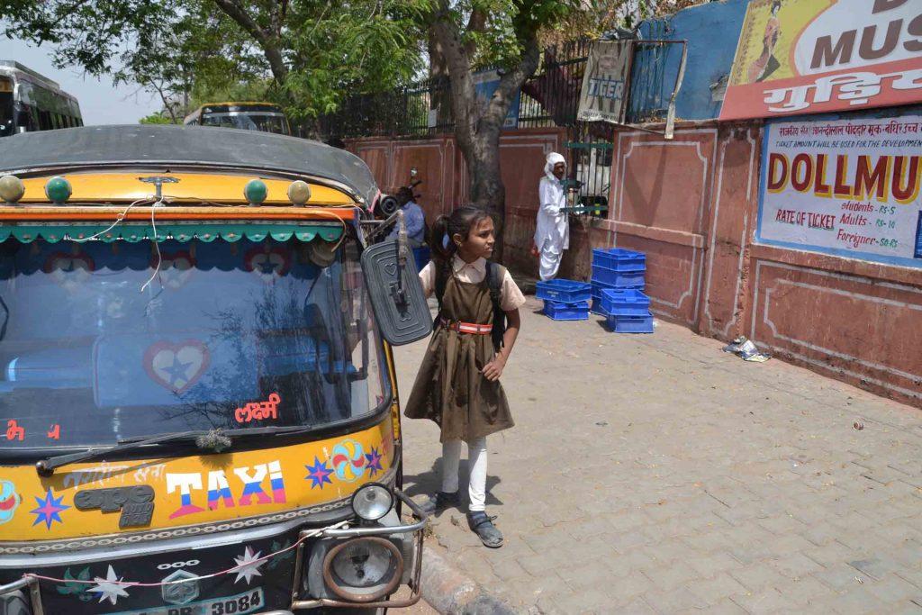 Tuk tuk, el transporte común en India