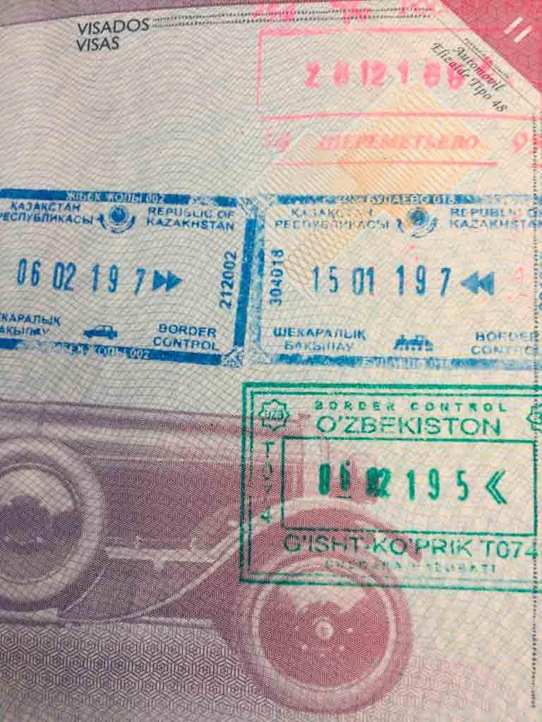 Sellos en el pasaporte