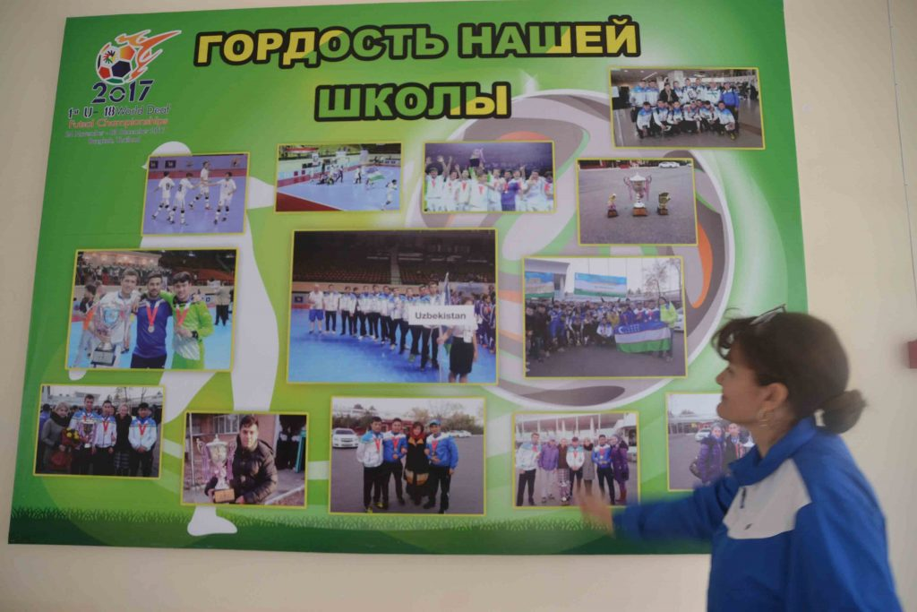 Mural con eventos deportivos y competiciones