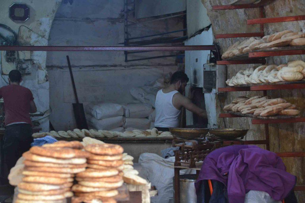 Panadería en Trípoli. En pleno zoco antiguo.