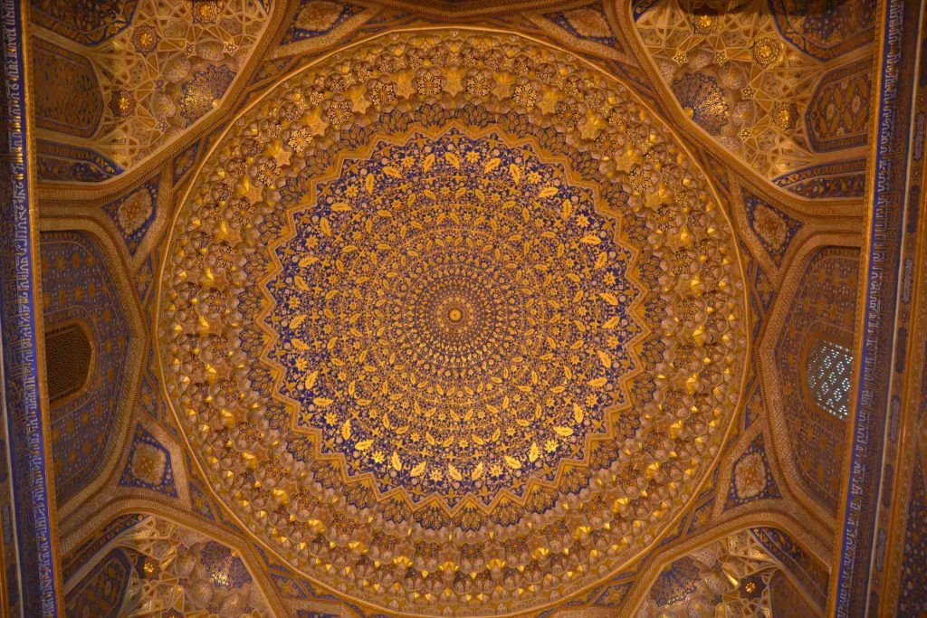 Cúpula interior madrasa Tilli Kari
