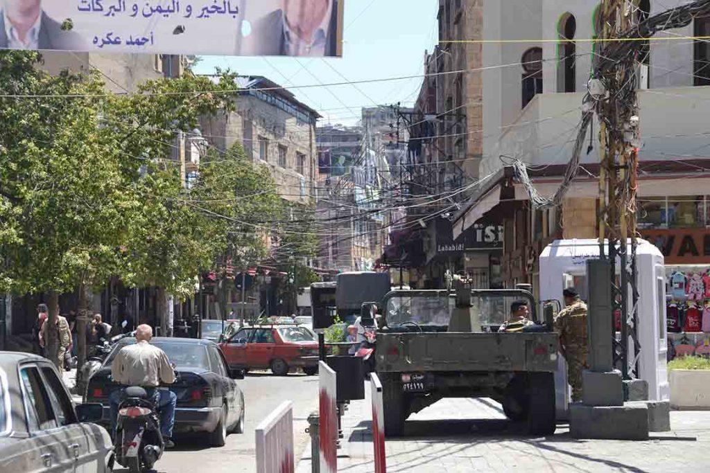 Tanques por las calles de Líbano