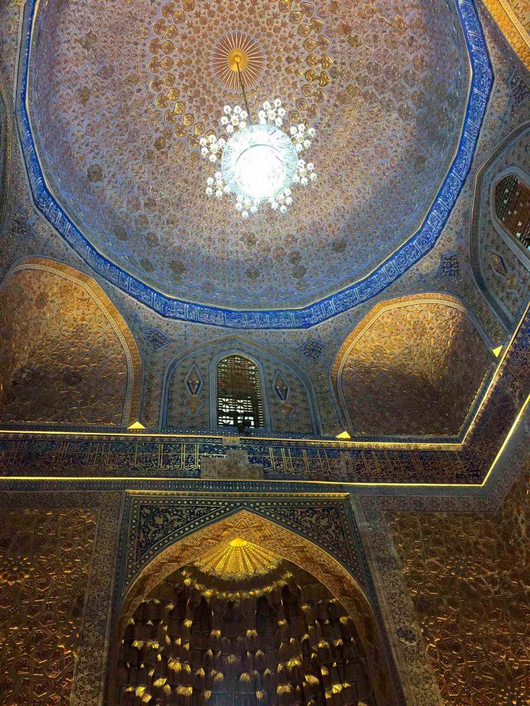 Interior mausoleo Tamerlán