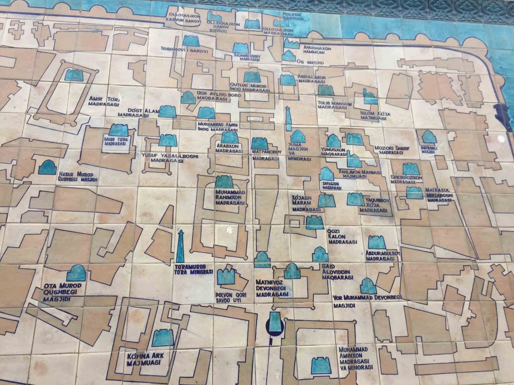 mapa con las principales cosas que ver en la ciudad antigua