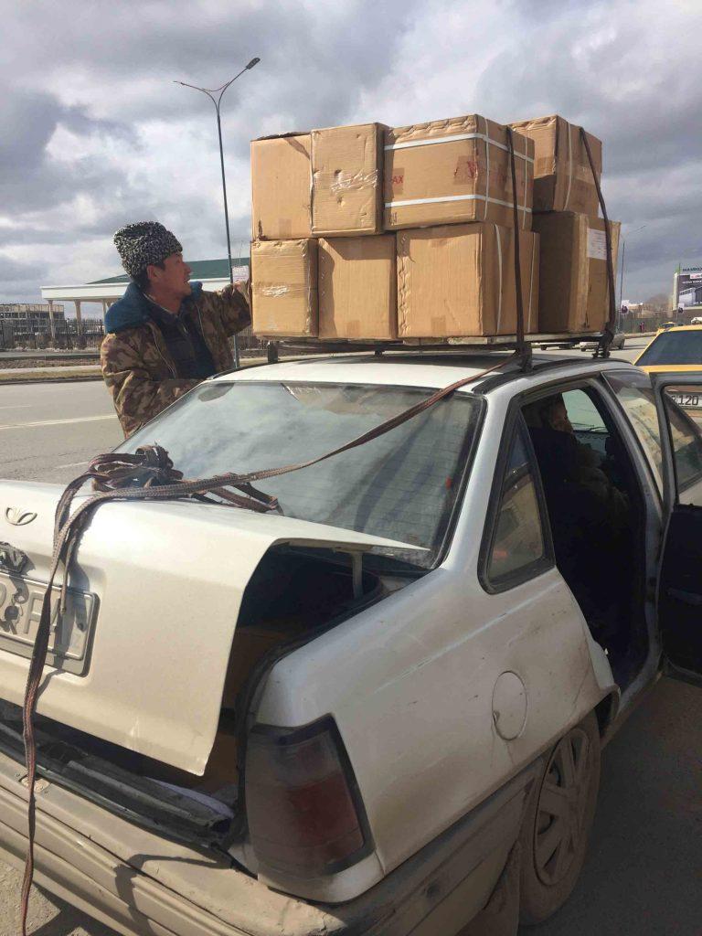 Taxi compartido en Uzbekistán