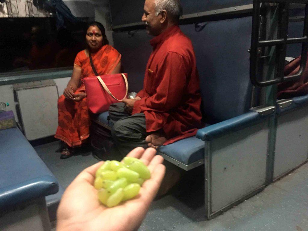 Compartiendo viaje con gente local