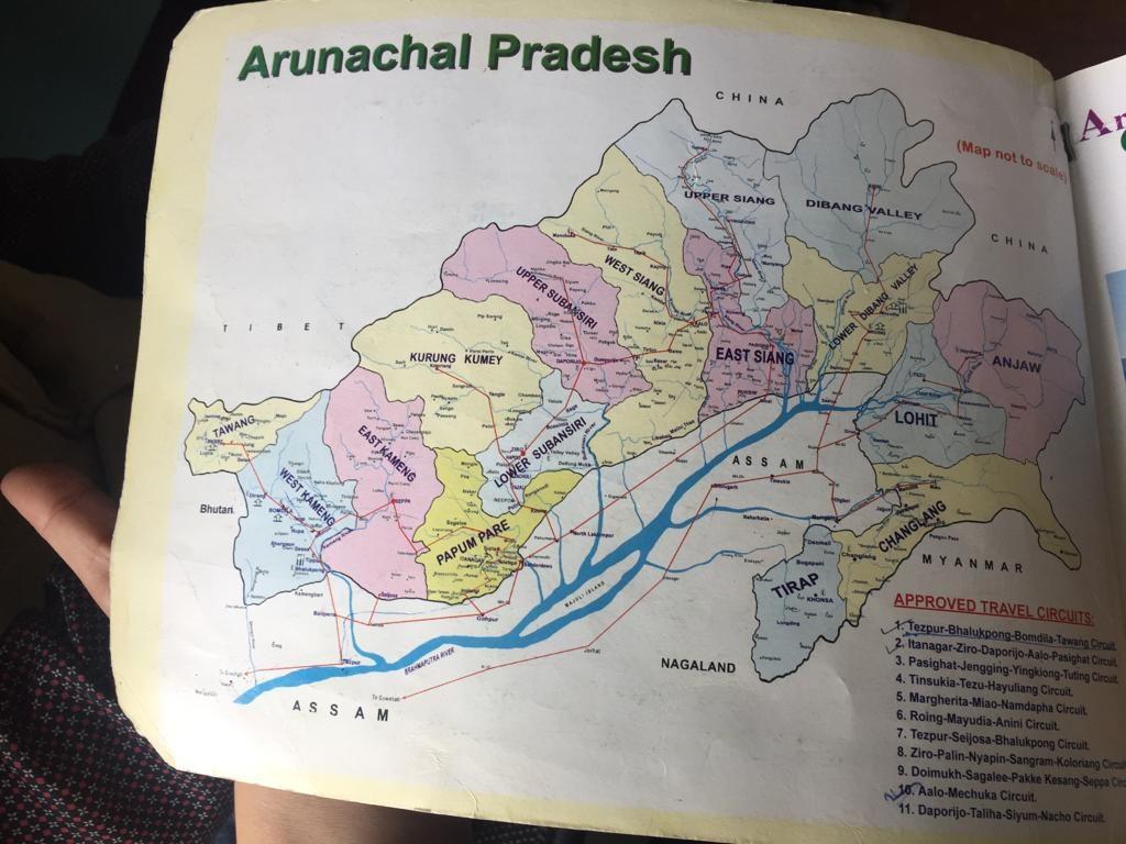 Mapa de Arunanchal Pradesh