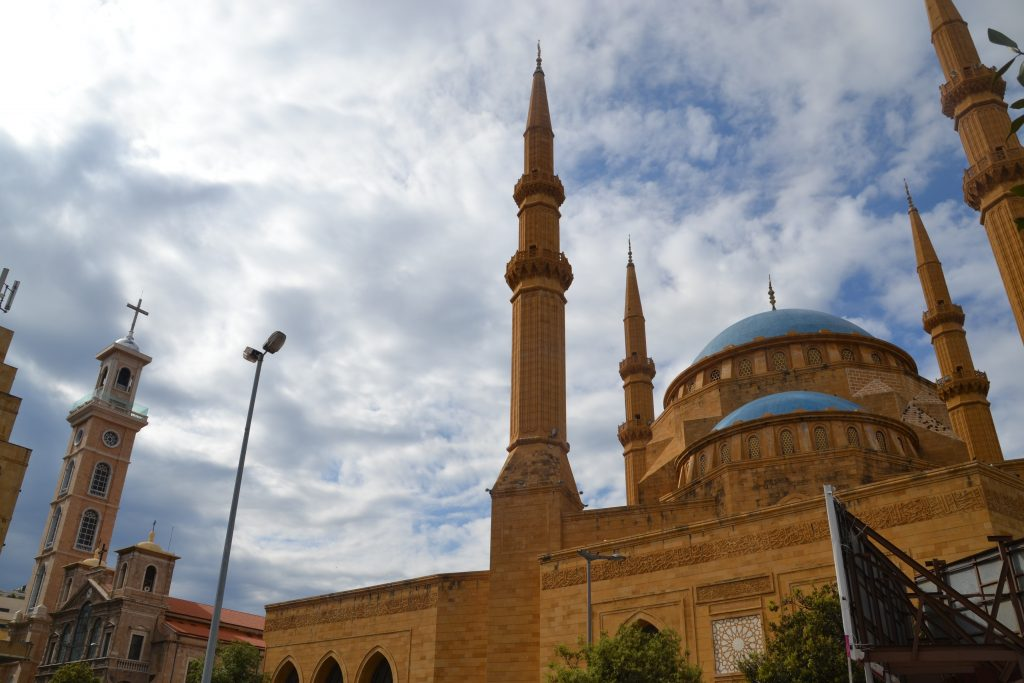 Iglesia y Mezquita conviviendo en armonía en el centro de Beirut