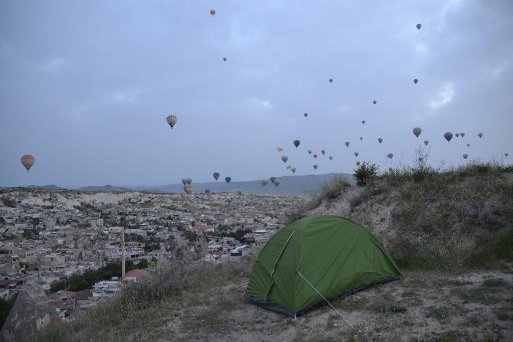 Acampada libre en Cappadocia.