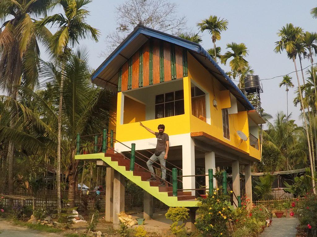 Nuestro alojamiento en Kaziranga