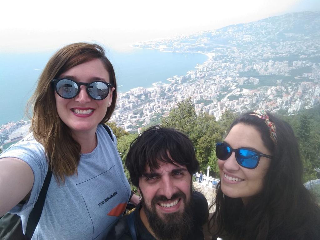 Disfrutando de las vistas en Líbano