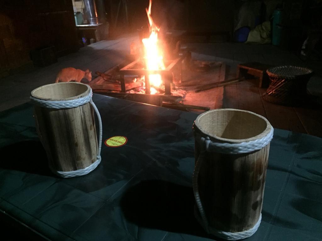 Cerveza de trigo artesanal. Los vasos también los hacían ellos. ¡Qué gozada!