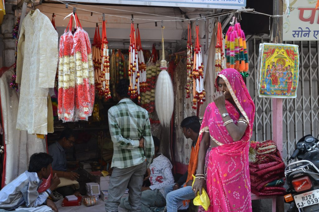 Calles de Udaipur en el Mewar Festival