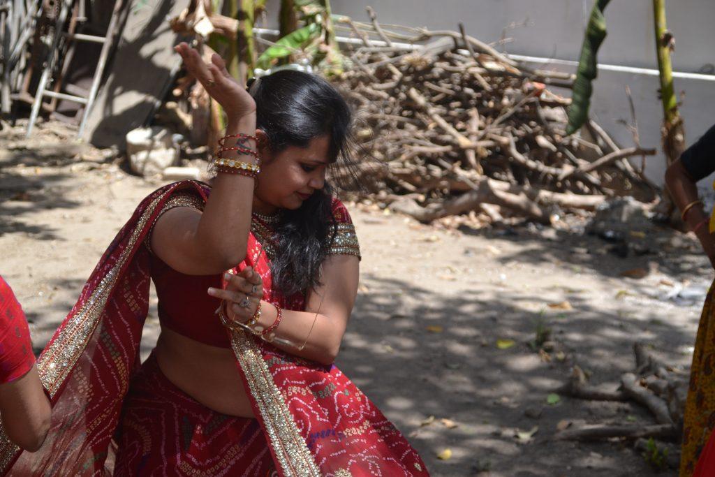 Danza tradicional en el Mewar Festival de Udaipur
