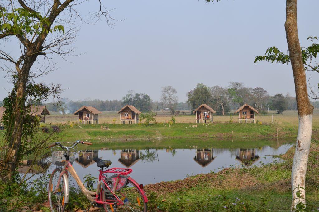 Nuestro alojamiento en Majuli