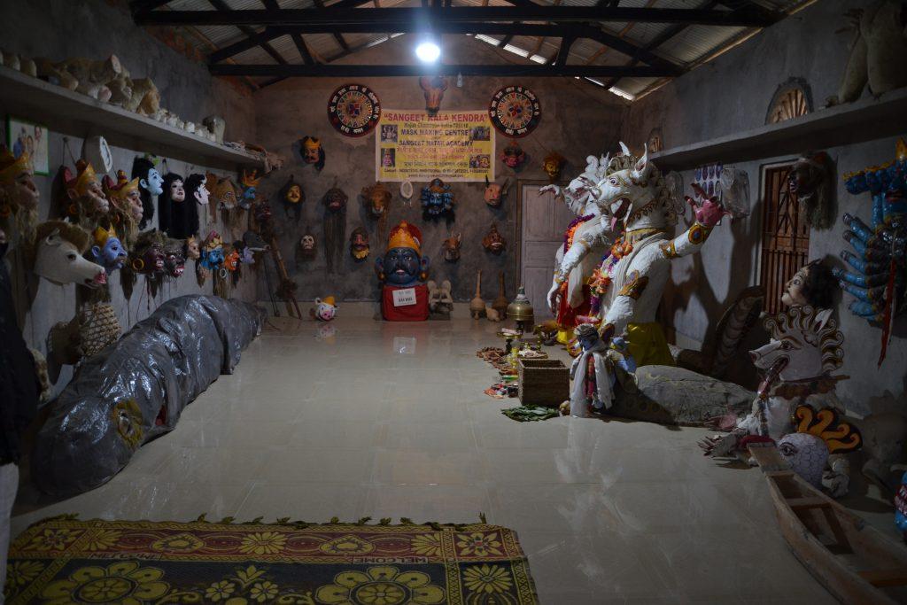 Exposición del taller de máscaras de Majuli