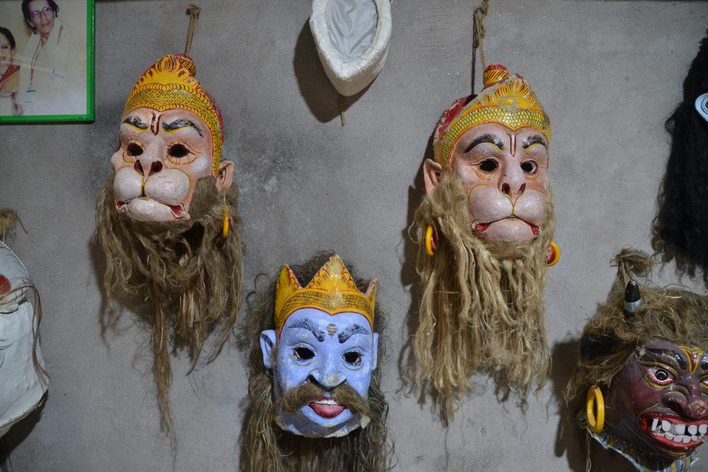 Máscaras tradicionales de Majuli