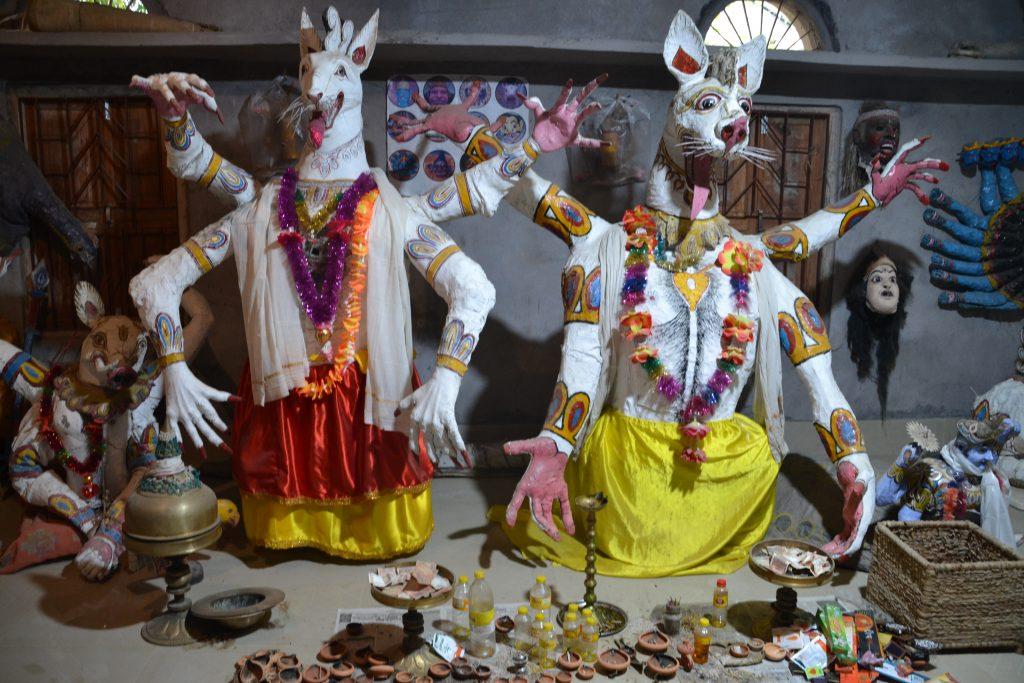 Dioses representados en el taller de máscaras