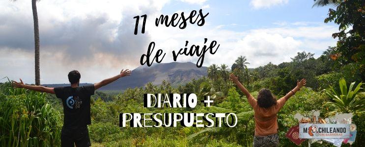 Vuelta al mundo: 11 meses de viaje. Diario + Presupuesto.