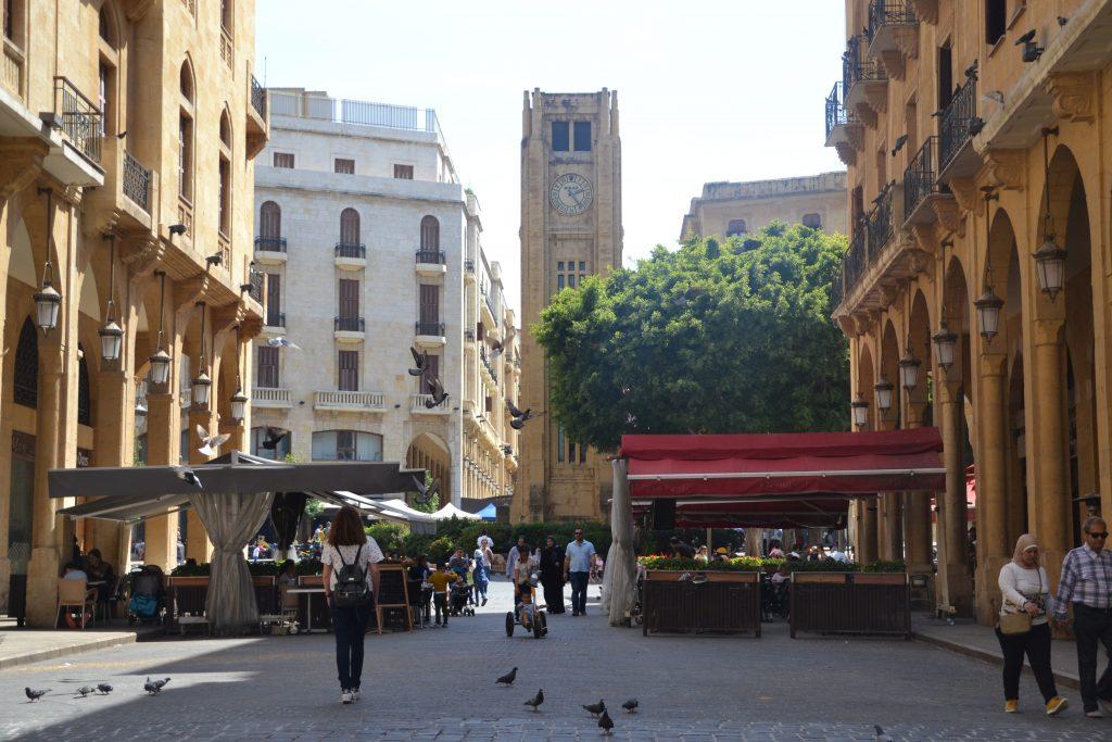 La torre del reloj de Beirut