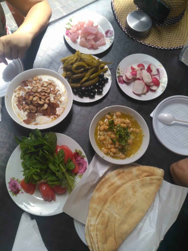 Mezze típica en Líbano