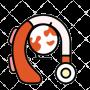 simbolo audifono discapacidad